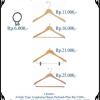 Agen Wooden Hanger gantungan Kayu Clothes Hanger